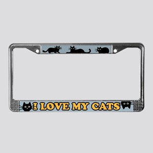 I LOVE MY CATS License Plate Frame