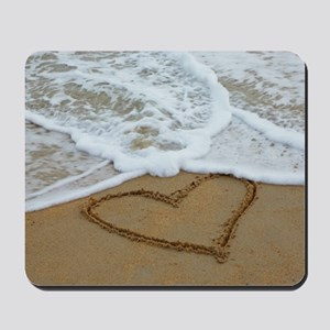 HEART IN SAND Mousepad