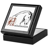 Andalusian horse Keepsake Boxes