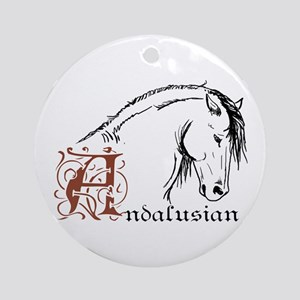 Andalusian Horse Ornament (Round)