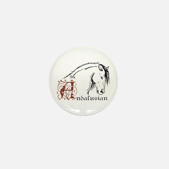 Andalusian Horse Mini Button