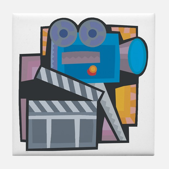 Film Making Tile Coaster