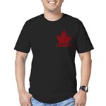 Cool Canada Maple Leaf Men's Fitted T-Shirt (dark)