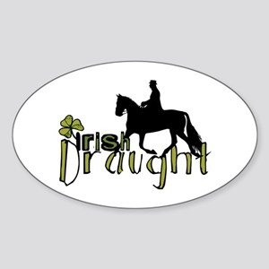 Irish Draught Horse Oval Sticker