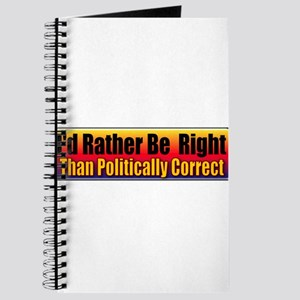 I'd Rather Be Right Journal