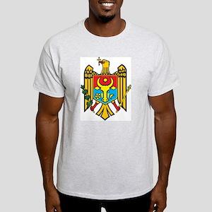 Moldova Coat Of Arms Ash Grey T-Shirt