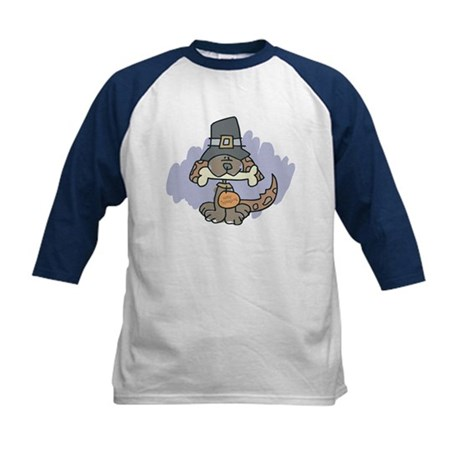Thanksgiving Dog Kids Baseball Jersey