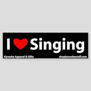 I Heart Singing Bumper Sticker