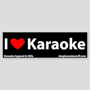 I Heart Karaoke Bumper Sticker