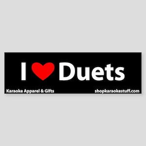 I Heart Duets Bumper Sticker
