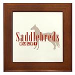 Saddlebred Horse Framed Tile