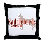 Saddlebred Horse Throw Pillow