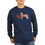 Saddlebred Horse Long Sleeve Dark T-Shirt