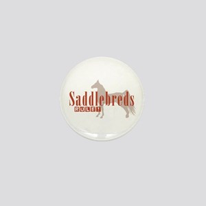 Saddlebred Horse Mini Button
