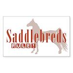 Saddlebred Horse Rectangle Sticker