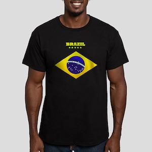 Brazil Men's Fitted T-Shirt (dark)