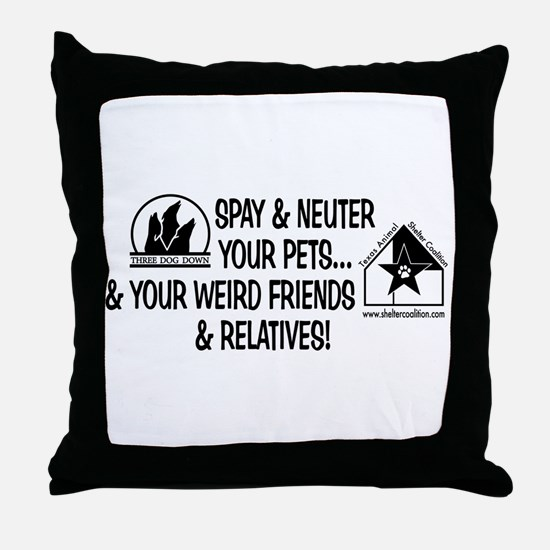 Spay & Neuter Fun! Throw Pillow