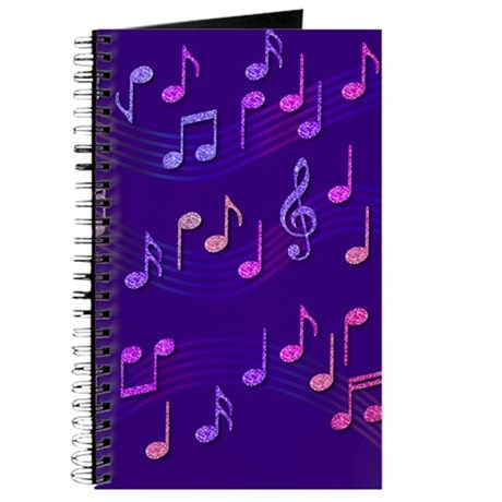 Purple Music Notes Journal