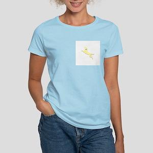 Yellow Dock Jumping Dog Women's Light T-Shirt