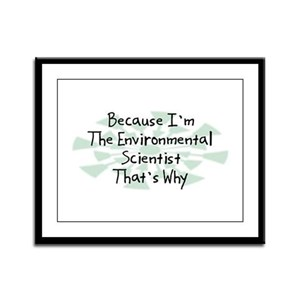 Because Environmental Scientist Framed Panel Print