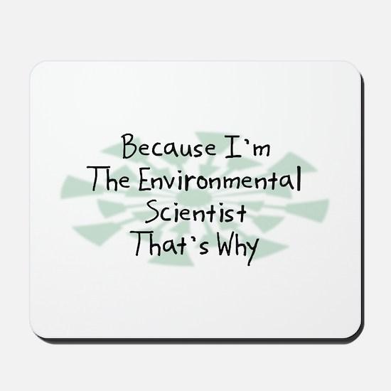 Because Environmental Scientist Mousepad