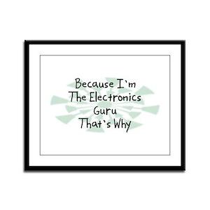 Because Electronics Guru Framed Panel Print