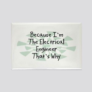 Because Electrical Engineer Rectangle Magnet