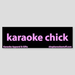 Karaoke Chick Bumper Sticker
