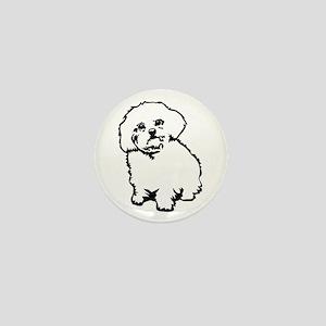 White Mini Button