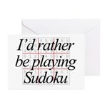 Rather Sudoku Greeting Cards (Pk of 10)
