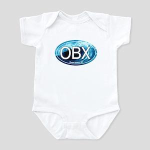 OBX Outer Banks NC Wave Oval Infant Bodysuit