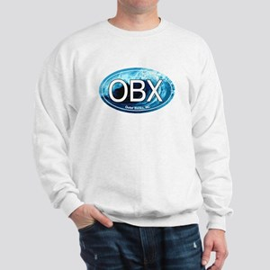 OBX Outer Banks NC Wave Oval Sweatshirt