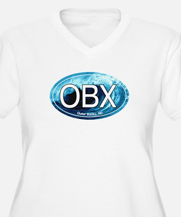 OBX Outer Banks NC Wave Oval T-Shirt