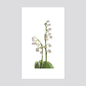 lily of Valley Sticker (Rectangle)