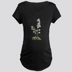 lily of Valley Maternity Dark T-Shirt