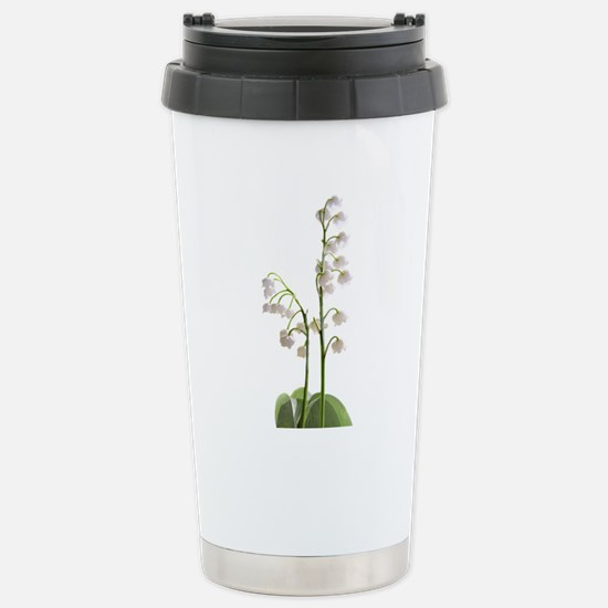 lily of Valley Stainless Steel Travel Mug