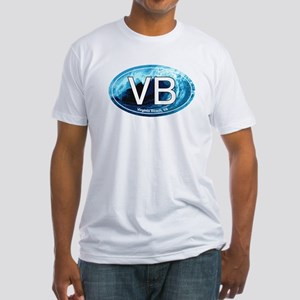 VB Virginia Beach Wave Oval Fitted T-Shirt
