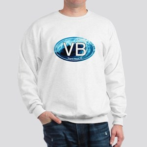 VB Virginia Beach Wave Oval Sweatshirt