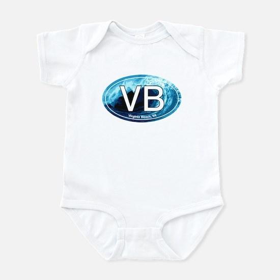 VB Virginia Beach Wave Oval Infant Bodysuit