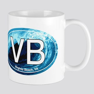 VB Virginia Beach Wave Oval Mug