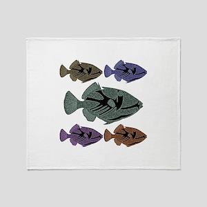 Hawaiian Trigger Fish Throw Blanket