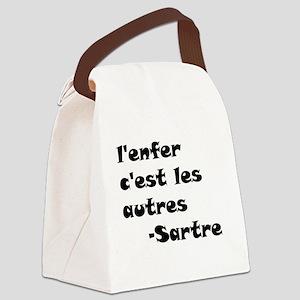 LenferCestLesAutres Canvas Lunch Bag