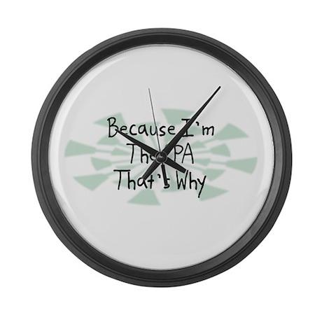 Because CPA Large Wall Clock