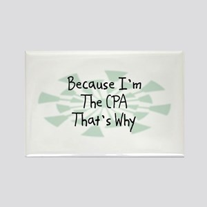 Because CPA Rectangle Magnet