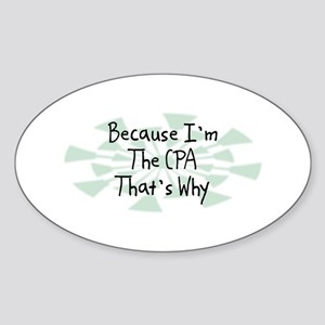 Because CPA Oval Sticker
