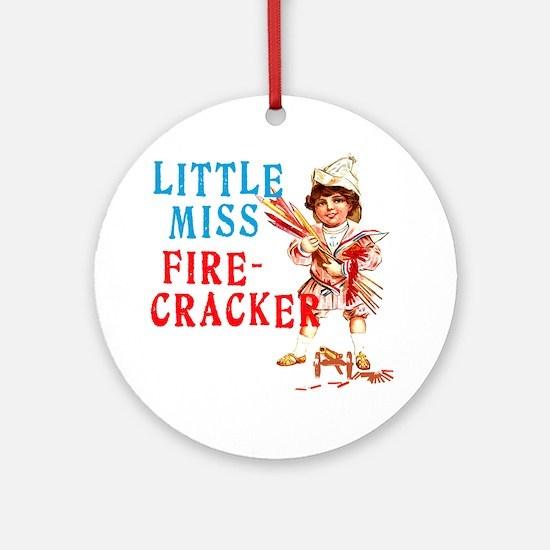 Vintage Miss Firecracker Ornament (Round)