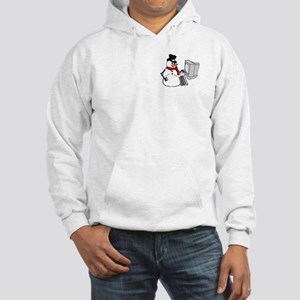Snowman at the Computer Hooded Sweatshirt