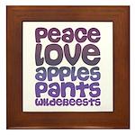 Apples and Pants Framed Tile