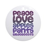 Apples and Pants Ornament (Round)