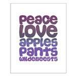 Apples and Pants Small Poster